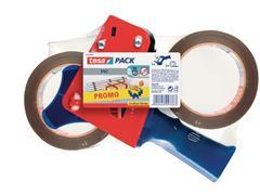 tesa® tesapack Ultra Strong Verpakkingstape Promo, PVC, 50 mm x 66 m met dispenser (set 3 stuks)