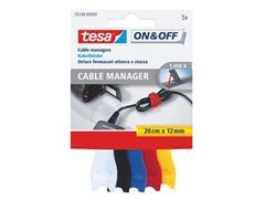 tesa® Kabelbinder, Klittenband, 12 × 200 mm (pak 5 stuks)