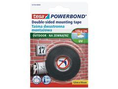 tesa® Powerbond® OUTDOOR dubbelzijdige bevestigingstape, wit, 19 mm x 1,5 m, 55750 (doos 12 x 1.5 meter)