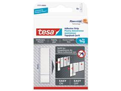 tesa® Powerstrips® navulverpakking voor kleefspijkers voor behang en pleisterwerk, 0,5 kg, wit (pak 6 stuks)