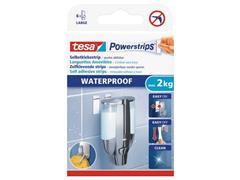 tesa® Powerstrips® waterbestendige, dubbelzijdige, zelfklevende bevestigingsstrips, wit (pak 6 stuks)