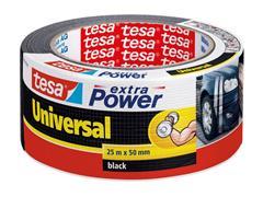tesa® Klussentape Extra Power Universeel 50 mm x 25 m, zwart (rol 25 meter)