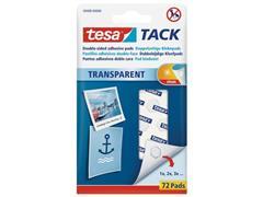 tesa® TACK® dubbelzijdige kleefpads transparant (pak 72 stuks)