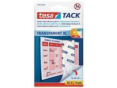 tesa® TACK® dubbelzijdige kleefpads transparant 59404 (pak 36 stuks)