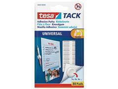 tesa® TACK® kneedbare kleefpads transparant (pak 80 stuks)