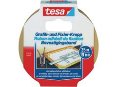 tesa® Afplaktape, 19 mm, Rol 25 m (rol 25 meter)
