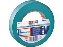 tesa® 4348, afplaktape, 30 mm x 50 m, crêpepapier, blauw (pak 10 x 50 meter)