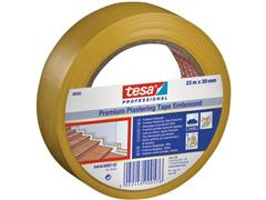 tesa® Afplaktape 33mm x 33m geel (doos 10 x 33 meter)