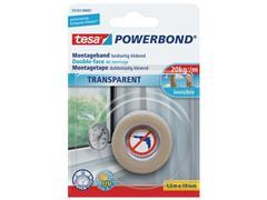 tesa® Klussentape Powerbond® 19 mm x 1,5 m, transparant (rol 1.5 meter)