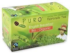PURO Fairtrade Theezakjes, Organic English Breakfast (doos 6 x 25 stuks)