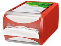 Tork Xpressnap Counter Servetdispenser, 145 x 191 x 307 mm, Plastic, Rood
