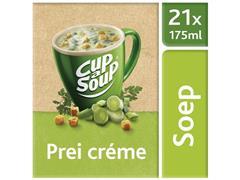 Unox Cup-a-Soup Prei Crème, Soep, 175 ml (doos 21 stuks)