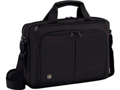Wenger Source aktetas voor laptop/tablet 16 inch, nylon, gevoerd, zwart