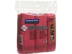 Wypall* Microvezeldoeken rood, toilet (pak 6 stuks)