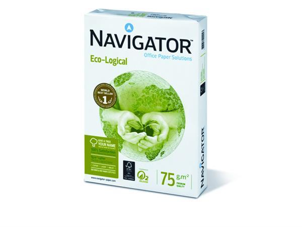 Navigator Premium Eco Logical Papier, A4, 75 g/m², Wit (pallet 200 x 500 vel)