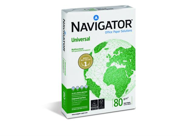 Navigator Universal papier A4, 80 g/m² (pak 5 x 500 vel)