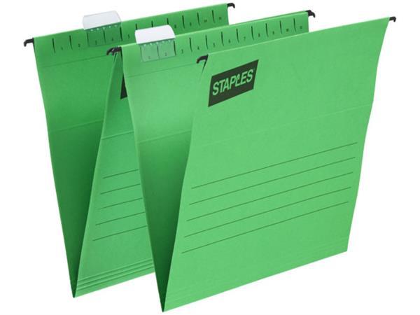 Staples Hangmap Euroflex Verticaal, A4, v-bodem, groen (doos 25 stuks)