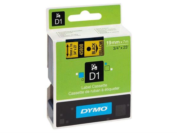 Dymo tape 12 mm, wit/transparant (pak 5 stuks)