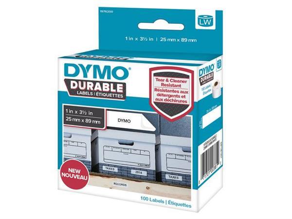 Dymo 1976200 LW duurzame labelrol, 25 x 89 mm (rol 100 stuks)