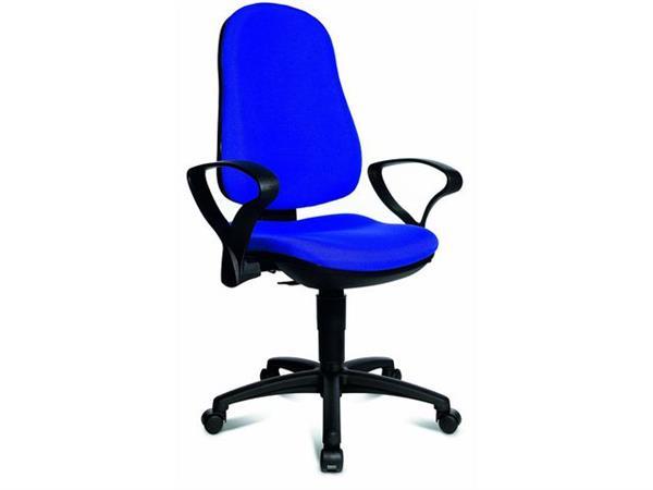 TOPSTAR Bureaustoel met armleuningen, blauw