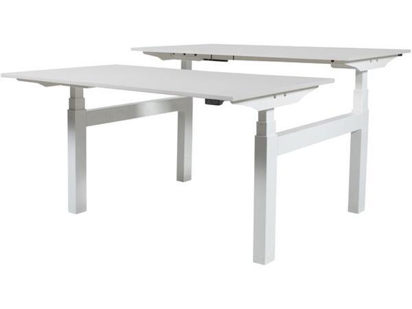Wit Tafelblad Met Zwarte Poten.Prof Desk Electro Duo Verstelbaar Bureau 180 X 80 Cm Wit Blad Zwarte Poten