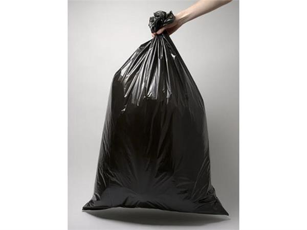 Afvalzak 16 liter, 45 x 50 cm, 35 micron, Zwart (doos 40 x 25 stuks)