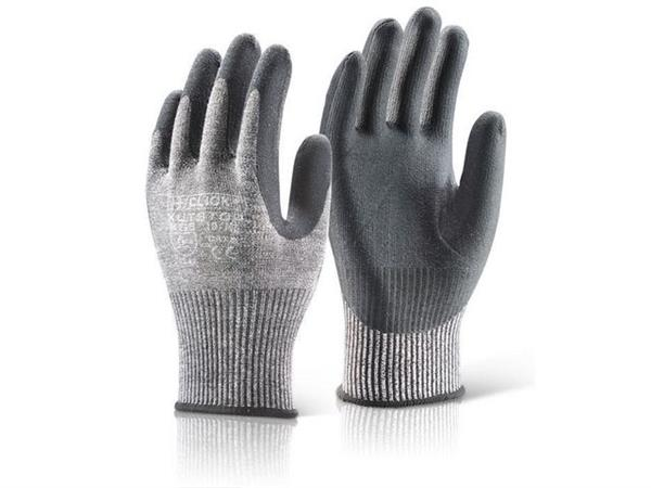 Click Nitril-Microschuim Handschoenen Snijniveau 5 zwart L (doos 10 paar)