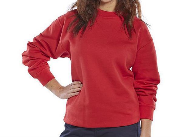 Click Sweatshirt, Lange mouwen, Maat M, Rood