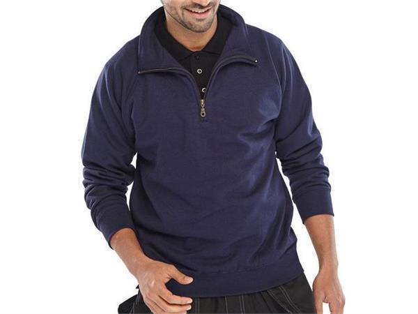 Click Sweatshirt Met Rits marine 5XL