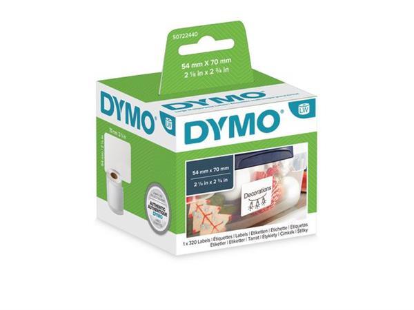 Dymo S0720540 LW Labels, Papier, 54 x 70 mm, Wit