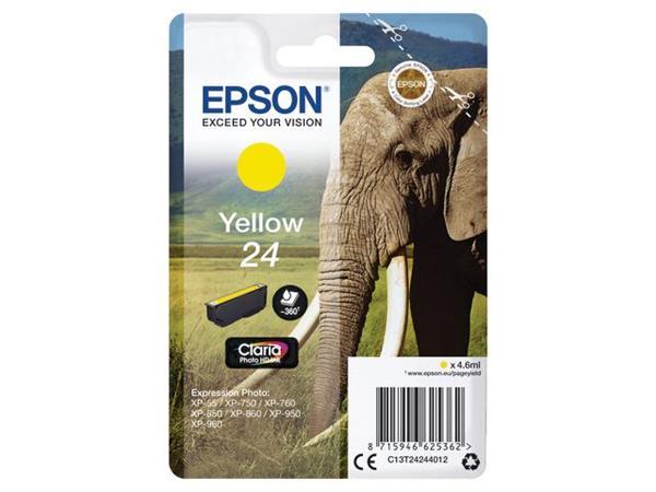 Epson 24 Toner, single pack, geel
