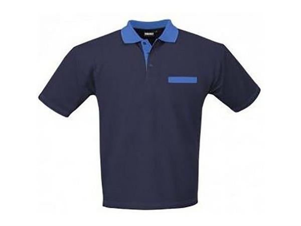 Indushirt Poloshirt, Maat S, Marineblauw, Korenblauw