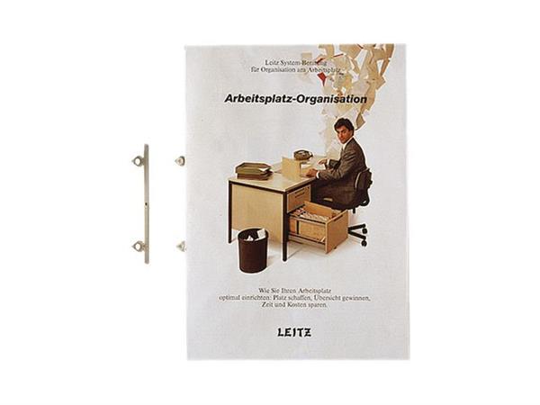 Leitz Brochurehangers 1755, 2-rings, Metaal, 91 mm (pak 25 stuks)