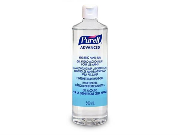 Purell® Advanced Hygiene Desinfecterende Handgel, Flacon met flipdop (fles 500 milliliter)
