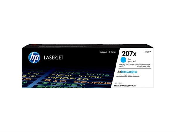 HP 207X / W2211X Toner, Hoog Capaciteit, Cyaan