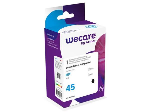 Wecare Gereviseerde inktjet cartridge 51645AE, één pakket, 995p, zwart, compatibel met HP 45
