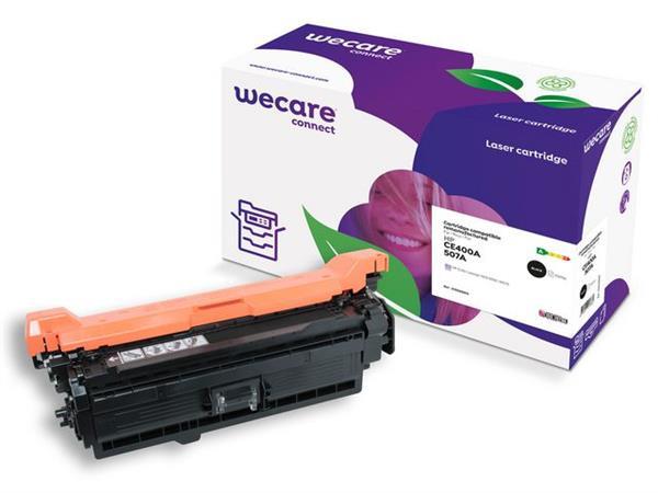 Wecare Gereviseerde toner cartridge, één pakket, CE400A, 5500p, zwart, geschikt voor Compatibel met HP 507A