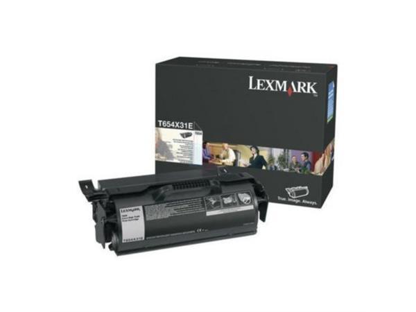 Lexmark T654 Toner, Single Pack, Zwart