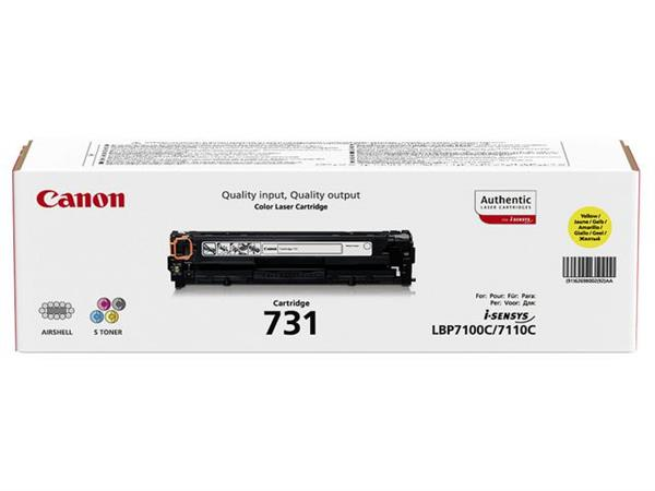 Canon 731 Toner, Single Pack, Geel