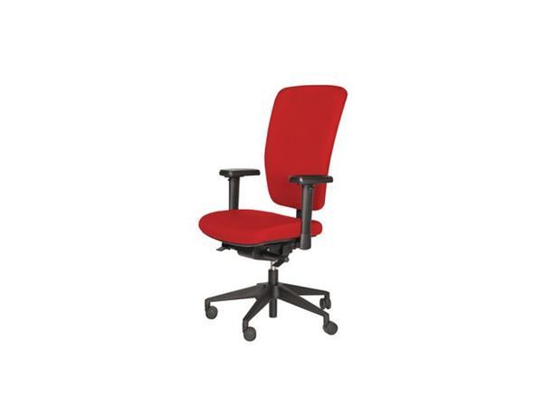 Bureaustoel Prof Chair NPR1813+ rood, voetkruis zwart kunststof