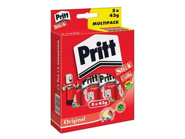 Pritt Lijmstift - Value Pack Original, 5 x 43 gram (blister 5 stuks)