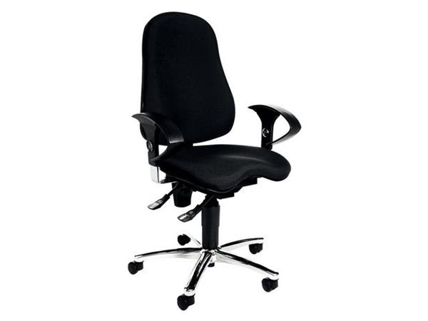 TOPSTAR Ortho, bureaustoel, stof, 55 cm hoog, zwart