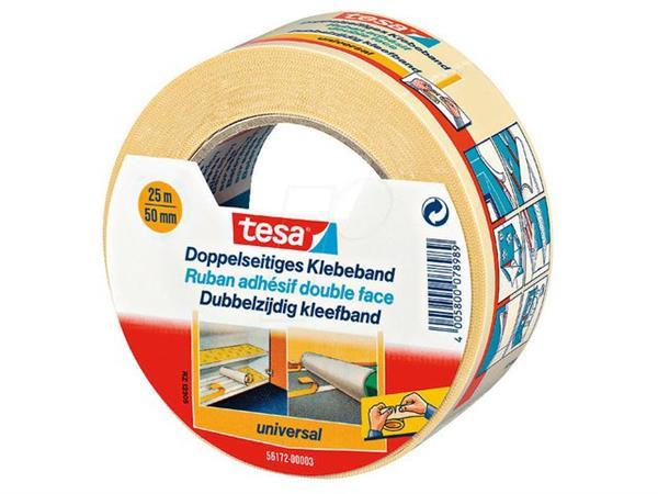 tesa® Tesa Universal dubbelzijdige tape (pak 6 x 25 meter)