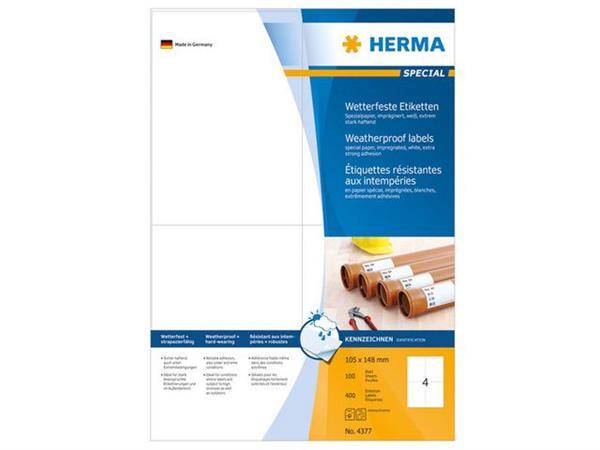 Herma Weerbestendige etiketten 105x148 mm (pak 400 stuks)