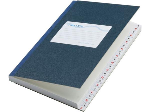 ATLANTA Kasboek met Alfabetregister, 105 x 165 mm, Gelinieerd, Blauw (pak 5 x 48 vel)