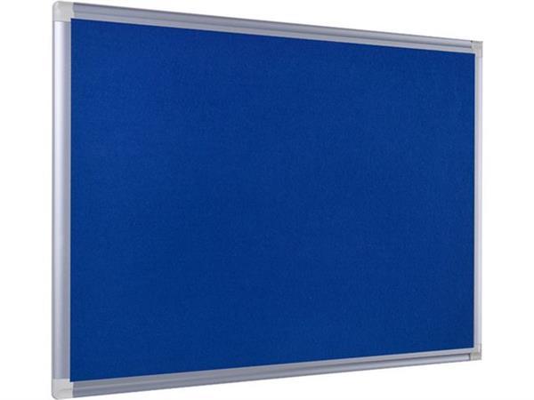 Bi-Office New Generation Maya Viltbord, blauw oppervlak, frame van grijs geanodiseerd aluminium, 1800 x 1200 mm