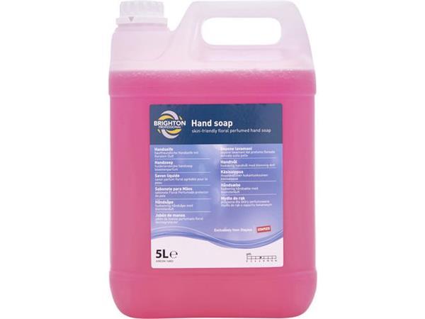 Brighton Professional Handzeep voor elke dag bloemengeur, roze, 5 l jerrycan (fles 5 liter)
