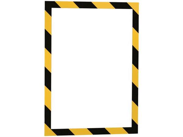 Durable Duraframe Security Kader A4, Magnetisch, Geel en zwart (pak 5 stuks)