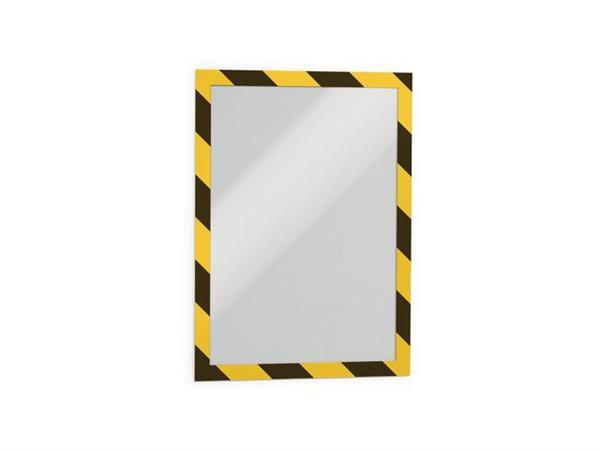 Durable Duraframe A4 security geel zwart (pak 2 stuks)