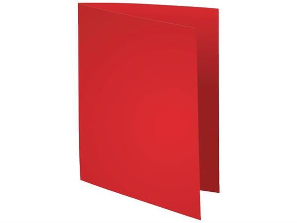 Exacompta Vouwmap onbedrukt A4, 180 g/m², rood (pak 100 stuks)
